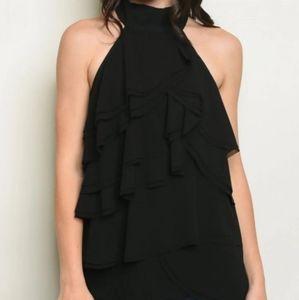 Alythea Women's Black Sleeveless Top
